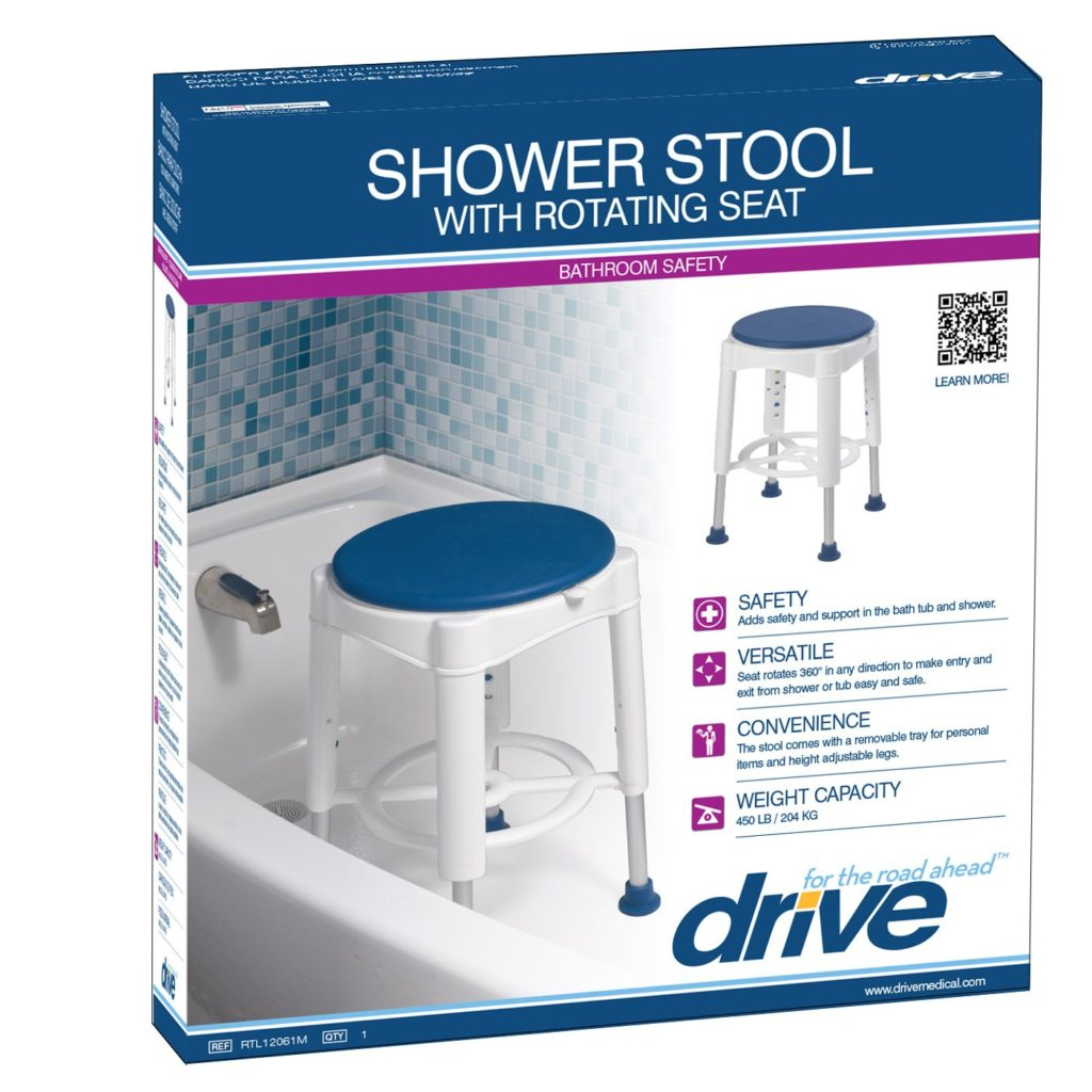 Drive Bath Stool With Rotating Seat - On The Mend Medical Supplies & Equipment